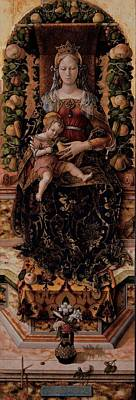 Crivelli Carlo, Madonna Of The Taper Poster by Everett