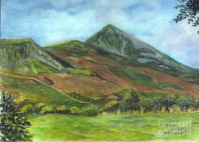 Croagh Saint Patricks Mountain In Ireland  Poster