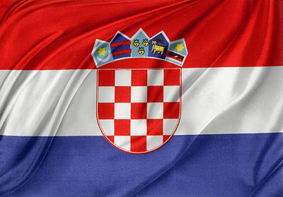 Croatian Flag Poster by Les Cunliffe