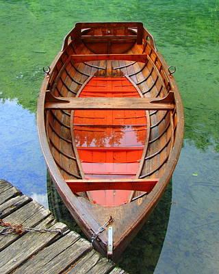 Croatian Rowboat Poster by Ramona Johnston