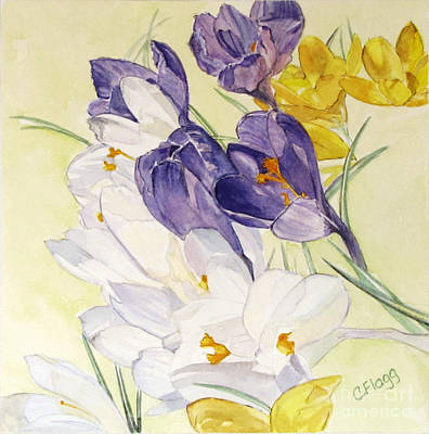 Poster featuring the painting Crocus by Carol Flagg