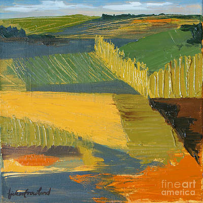Poster featuring the painting Crop Fields by Erin Fickert-Rowland