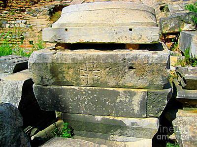 Cross In Stone Poster by John Kreiter