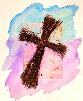 Cross Of Sticks Poster by Pattie Calfy
