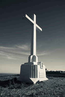 Cross On Mont St-clair, Sete, Herault Poster by Panoramic Images
