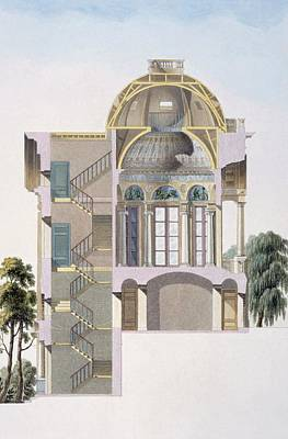 Cross Section Of The Pavilion Poster by Pierre Jacques Goetghebuer