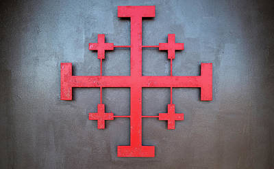 Cross Symbol On The Wall Of St. John Poster