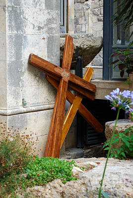 Crosses At Church Of The Flagellation Poster