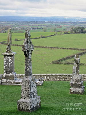 Poster featuring the photograph Crosses Of Cashel by Suzanne Oesterling