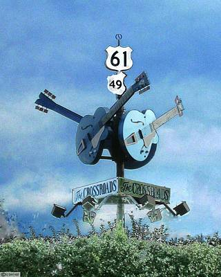 Poster featuring the photograph Crossroads In Clarksdale by Lizi Beard-Ward