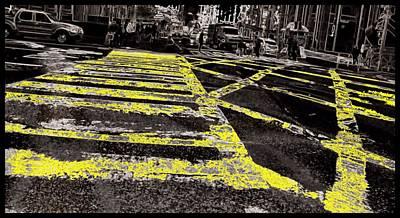 Crosswalks In New York City Poster by Dan Sproul