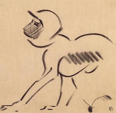 Crouching Monkey Poster