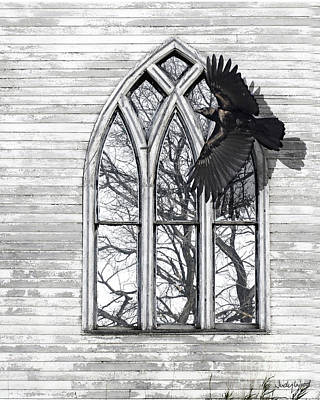 Crow Church Poster by Judy Wood