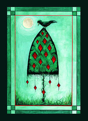 Poster featuring the mixed media Crow Dreams by Terry Webb Harshman
