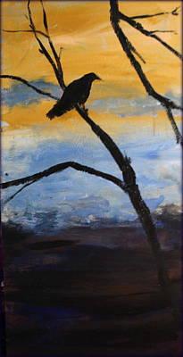 Crow IIi Poster by Rosemarie Hakim