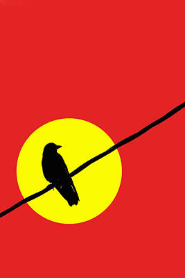 Crow On A Wire Poster by Carol Leigh