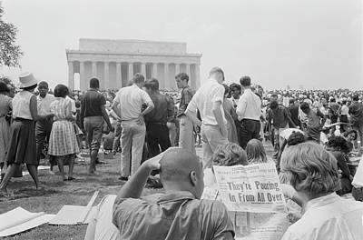 Crowd Of African Americans And Whites Poster