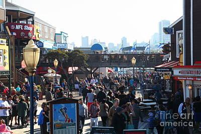 Crowds At Pier 39 San Francisco California 5d26134 Poster