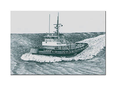 Crowley Tugboat Ocean Going Gladiator Poster