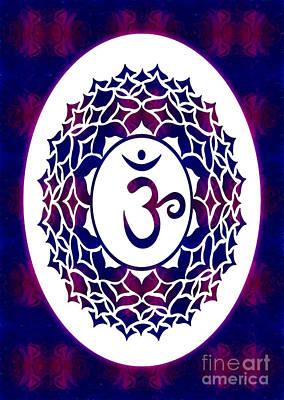 Crown Chakra Abstract Spiritual Artwork By Omaste Witkowski Poster by Omaste Witkowski