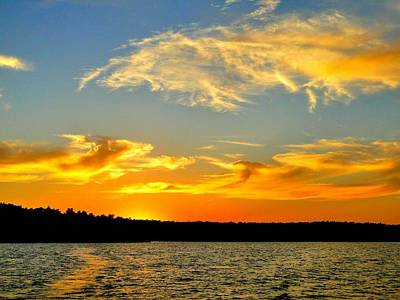 Crown Lake  Sunset  Retired Ahhh Poster by Cindy Croal