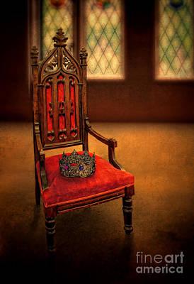Crown On Chair Poster by Jill Battaglia