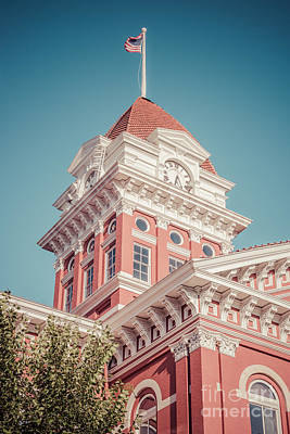 Crown Point Courthouse Retro Photo Poster by Paul Velgos