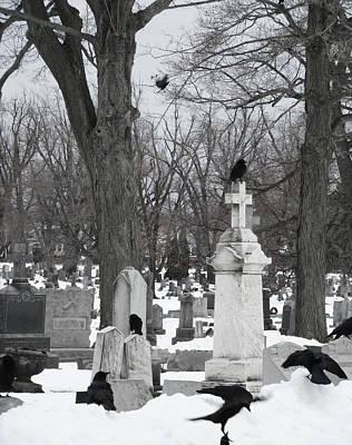 Crows In Gothic Winter Wonderland Poster