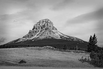Crowsnest Mountain Black And White Poster