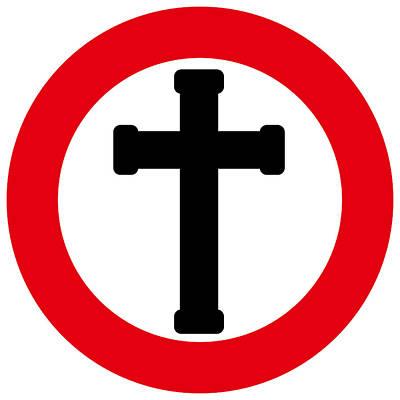 Crucifix Poster by Alain De Maximy