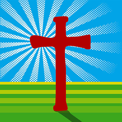 Crucifix And Light Poster by Alain De Maximy