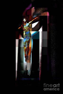 Poster featuring the photograph Crucifixion by Jodie Marie Anne Richardson Traugott          aka jm-ART