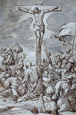 Crucifixion Poster by Johann or Hans von Aachen