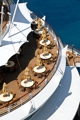 Cruise Ship Symmetry Poster