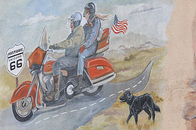 Cruisin'  On Route 66 Poster