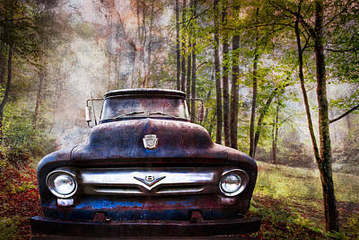 Cruising The Back Roads Poster by Debra and Dave Vanderlaan