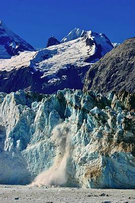 Poster featuring the photograph Crumbling Glacier by Henry Kowalski