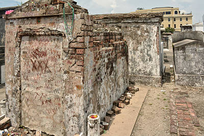 Crumbling Wishes At Saint Louis Cemetery Poster