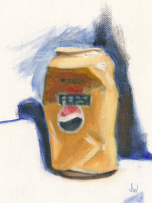Poster featuring the painting Crushed Can by Joe Winkler