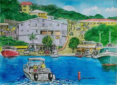 Cruz Bay St. Johns Virgin Islands Poster by Frank Hunter