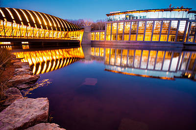 Crystal Bridges Art Museum Reflections Poster by Gregory Ballos