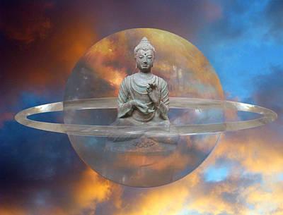 Crystal Buddha Meditation Poster by Gill Piper