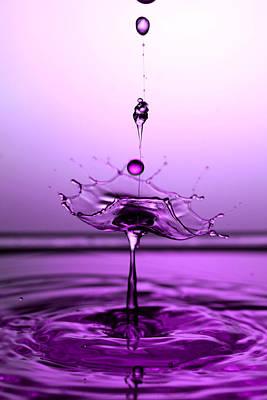 Crystal Cup Water Droplets Collision Liquid Art 5 Poster