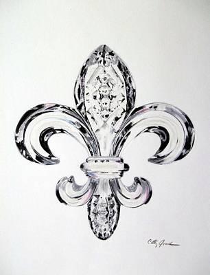 Crystal Fleur De Lis Poster