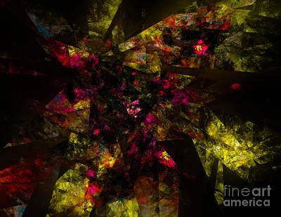 Poster featuring the digital art Crystal Inspiration #1 by Olga Hamilton