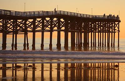 Poster featuring the photograph Crystal Pier by Nathan Rupert