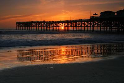 Crystal Pier Sunset Poster