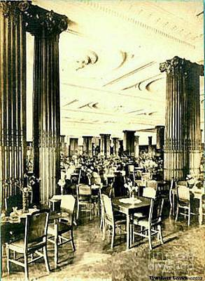 Crystal Tearoom In John Wanamaker's In Philadelphia Pa 1920 Poster by Dwight Goss