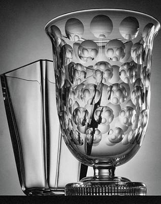 Crystal Vases From Steuben Poster