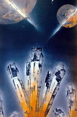 Poster featuring the painting Crystals by Jason Girard